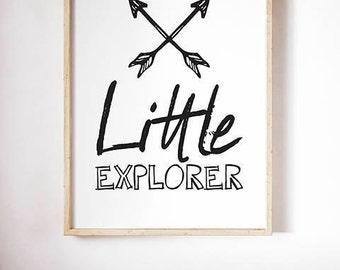 Spry Graphics Little Explorer Print / Poster Digital Download