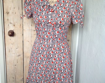 1960s cherry print dress