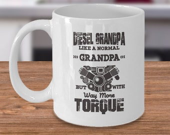 Diesel Grandpa Coffee Mug, 11oz, Ceramic, Cup, Gift for Grandpa, GrandFather's Day Gift, Diesel Motors, Trucks