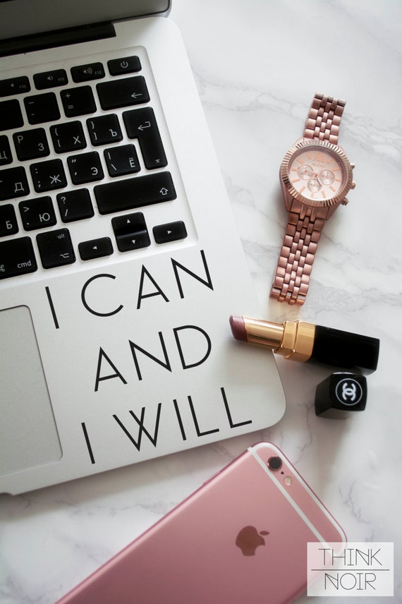 Items Similar To I Can And I Will Macbook Decal Laptop