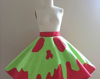 Short Bad Apple Circle Skirt