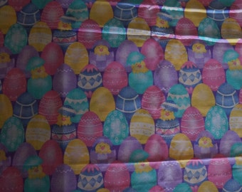 Easter Egg Chick Colorful Eggs Spring Fabric -  Almost 3 yards