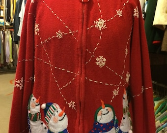 Embroidered Christmas Sweater