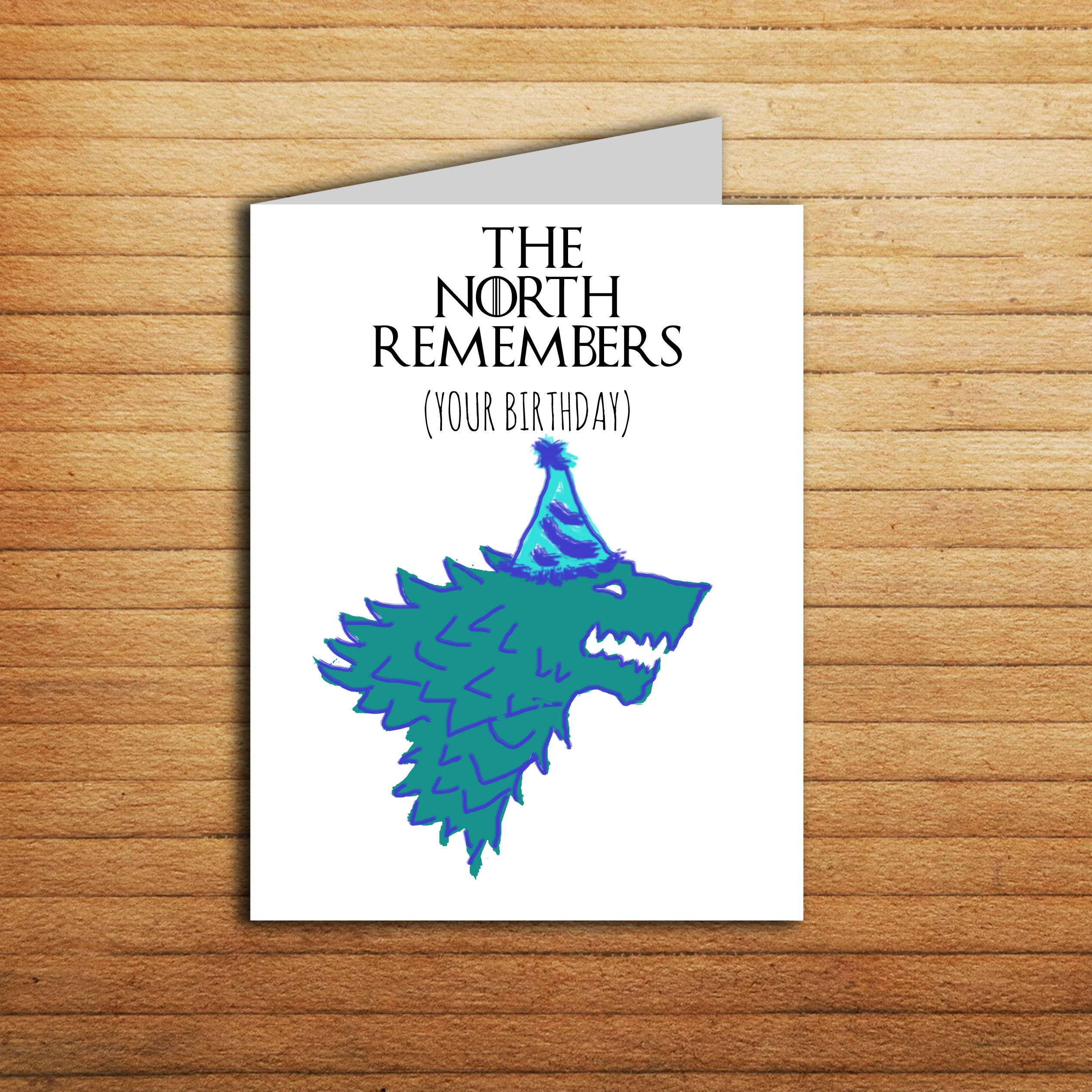 Game of thrones card the north remembers your birthday card zoom kristyandbryce Gallery