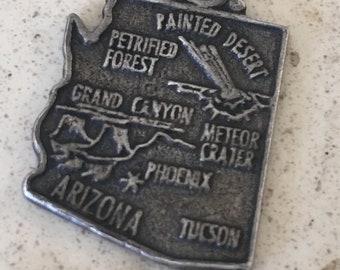 Vintage Sterling Silver, Arizona Landmarks Charm or Pendant.