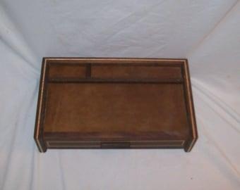 Men's Jewelry Box Valet or Dresser Box Watch Box Walnut