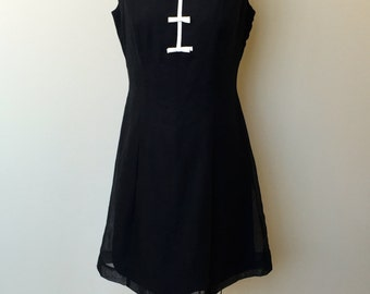 1950's VINTAGE Eve Carver PARTY DRESS-4th Bow's A Charm Dress