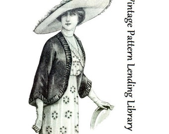 1912 Ladies Spring Mantle - Reproduction Sewing Pattern #E0189
