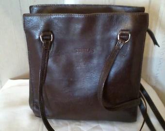 Original vintage thick and soft leather handbag