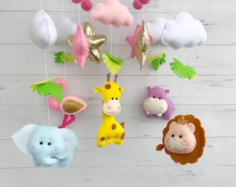 Safari Baby Mobile/Nursery Mobile/Safari Nursery Decor/Baby Animal Mobile/Musical mobile/mobile baby/safari baby mobile/safari baby shower