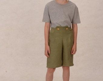 """Vegan """"lederhosen"""" for boys linen trousers"""