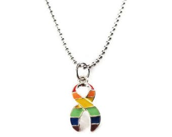 Equal Rights Awareness Necklace, Gay Pride, LGBT Pride, Equality, Equal Rights, Rainbow Jewelry, Awareness, Marriage Equality, LGBT