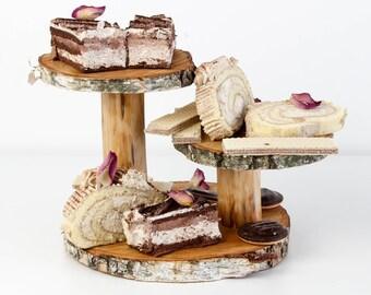 Cake Stand, Cake Plate, Wedding Cake Stand, Rustic Cake Stand Wood, Birthday Cake Stand, cupcake stand, dessert stand, Cupcake Stand Holder