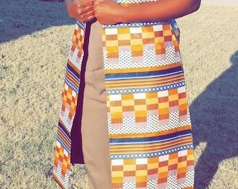 African Print Cardigan