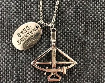 SALE! The Walking Dead crossbow necklace