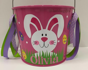 Easter Basket- Personalized Easter basket-Personalized Easter Bucket-Monogrammed Easter Bucket- 5qt bucket Easter Bucket- Easter Pail