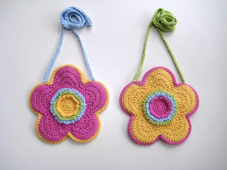 Crochet Bag Pattern Flower shaped purse bag INSTANT DOWNLOAD PDF ...