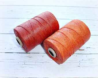 4 ply Irish Waxed Linen Cord Orange Crush - 1 Yard