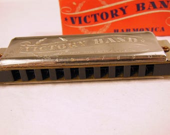 Harmonic Reed Victory Band Harmonica In the Box With Instructions