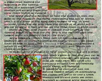 APPLE Tree MAGIC Properties, BOS Instant Download Page, WaND, Bark Scrolls, Book of Secrets, Glamerie Pages