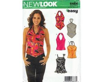 New Look 6464 Women's Halter Tops Sizes 8 - 18  UNCUT