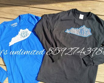 Ky state applique long sleeve tee