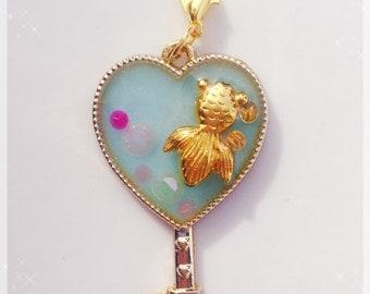 Koi Pond Heart Key
