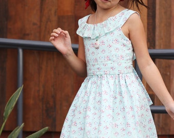 """GIRLS DRESS PATTERN, instant digital download, perfect for a flower girl, includes photo tutorial, """"The Emma Rose Dress"""""""