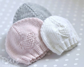 SIMPLE baby hat PREEMIE and NEWBORN knitting pattern