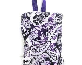 Waterproof Trash Stasher//Boho Purple//Car Trash Bag//Car Garbage Bag//Organizer Bag//Car Waste Bag//Litter Bag//Hanging Litter Bag