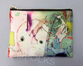 Circus Dreams Zipper Pouch, artist design, Ellifolks