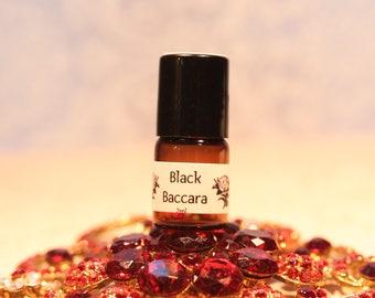 BLACK BACCARA Miniature Roll-On Perfume / Handmade Dark Rose Perfume Oil / Mini Rose Perfume  / Gothic Perfume / Deep Earthy Rose Perfume