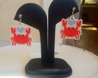 Just a little crabby-post earrings