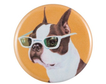 """Cool Terrier 1.25"""" Button Pin"""
