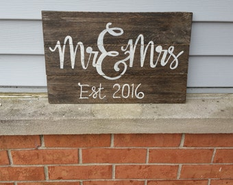 Newlywed Wooden Sign