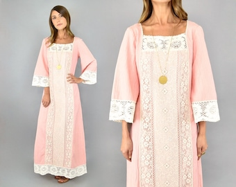 70's Miss K Crinkle Maxi Dress