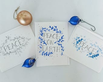 Peace Pack / Christmas Cards / Holiday Cards / Handmade Cards / Blank Cards / Greeting Cards