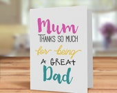 Card for Mum, Father'...