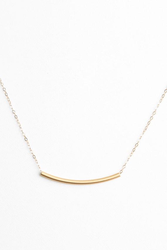 Minimal Gold Bar Necklace