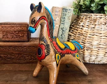 Mexican Folk Art Horse Bank