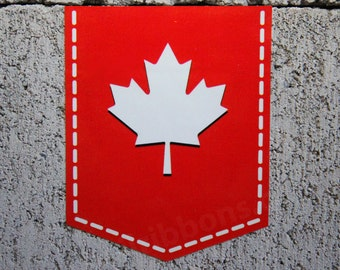 "Maple Leaf of Canada sticker -  2"" x 2.5"" - Vinyl Decal Car Canadian Emblem Badge"