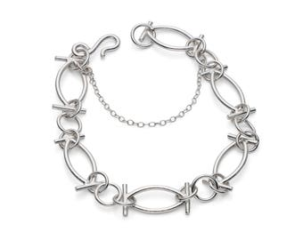 Guadalupe by Fedha - hand-mitred geometric links of sterling silver, a bespoke, unique, one-off piece