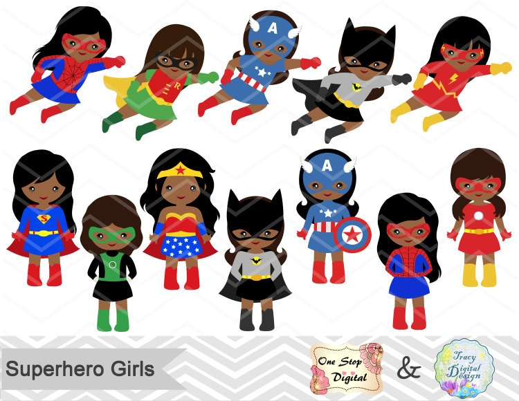 27 superhero girls digital clipart superhero clip art girl rh etsy com baby girl superhero clipart girl superhero clip art black and white