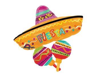 "32"" Fiesta Balloons - Fiesta Party - Fiesta - Sombrero - Cinco de Mayo Decorations - Mexican Party Decorations - Fiesta Baby Shower - Fiesta"