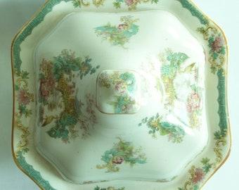 Myott, Son & Co. Square  Imperial Semi Porcelain Tureen