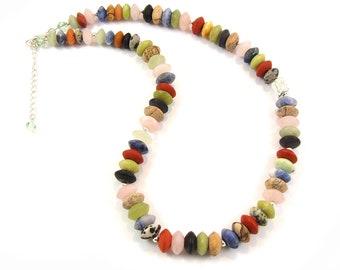 Multigemstone Necklace