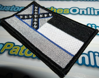 Mississippi Swat Police Thin Blue Line Tactical Subdued Patch
