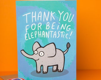 Elephantastic - Greeting Card - Well Done - Good Luck - New Job - Congratulations - Anxiety - Courage - Katie Abey