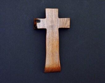 Unique Wood Cross; Christian; Cross Wall Decor; Wall Cross; Mesquite; Wedding Gift; Sympathy Gift; Free Ground Shipping USA; cc15-203082018