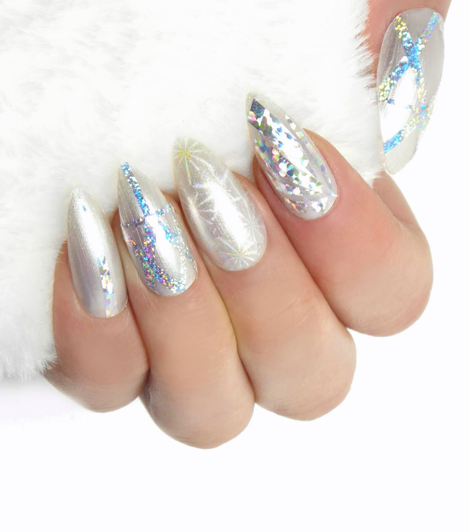 Sternenstaub Nägel / künstliche Nägel Kleber auf den Nägeln
